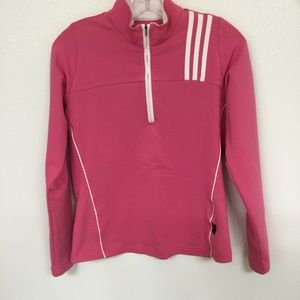 Adidas Climalite 1/4 Zip Pink Pullover